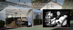 GlühweinParty mit den Scones im beheizten Party-Zelt im Restaurant 69190 Walldorf