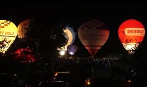 Ballongluehen Heißluftballone Flugtage Sportflugplatz Walldorf Restaurant Kikis Tante Ju